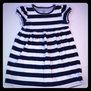 Old Navy Striped Cap Sleeve Cotton Knit Dress
